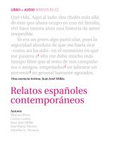 Relatos españoles contemporáneos. Buch mit Audio-CD: (B2-C2)