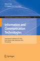 Information and Communication Technologies - Vinu V Das; R. Vijaykumar
