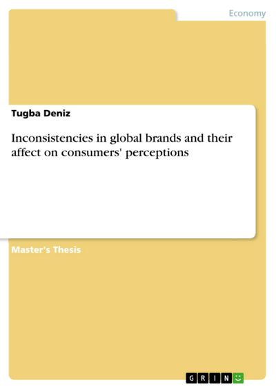 Inconsistencies in global brands and their affect on consumers' perceptions - Tugba Deniz
