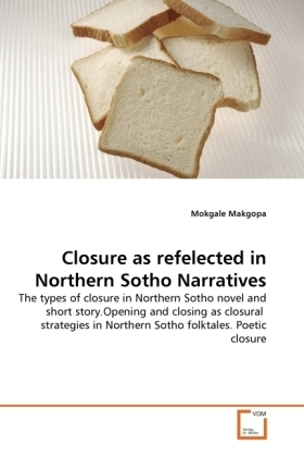 Closure as refelected in Northern Sotho Narratives - The types of closure in Northern Sotho novel and short story.Opening and closing as closural strategies in Northern Sotho folktales. Poetic closure - Makgopa, Mokgale