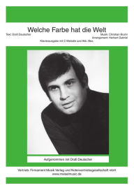 Welche Farbe hat die Welt: as performed by Drafi Deutscher, Single Songbook - Drafi Deutscher
