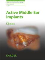 Active Middle Ear Implants: 69 (Advances in Oto-Rhino-Laryngology)