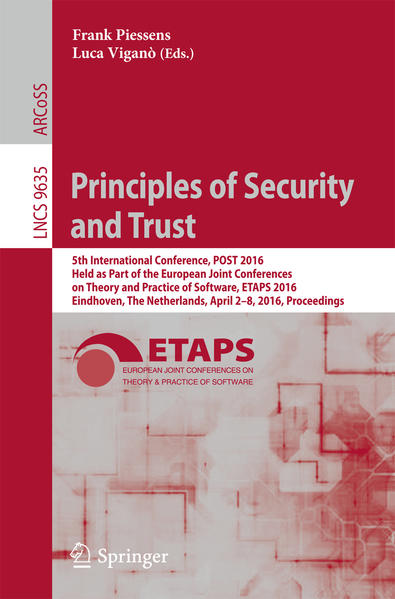 Principles of Security and Trust als Buch von