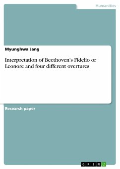 Interpretation of Beethoven's Fidelio or Leonore and four different overtures - Jang, Myunghwa