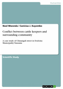 Conflict between cattle keepers and surrounding community - Mwenda, Noel Kayombo, Canicius J.