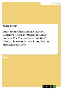 Essay about Christopher A. Bartlett, Sumantra Ghoshal: