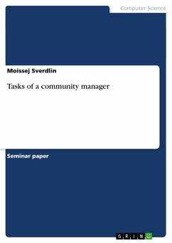 Tasks of a community manager - Sverdlin, Moissej