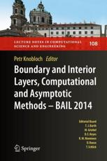Boundary and Interior Layers, Computational and Asymptotic Methods - BAIL 2014 2015 - Knobloch, Petr (EDT)