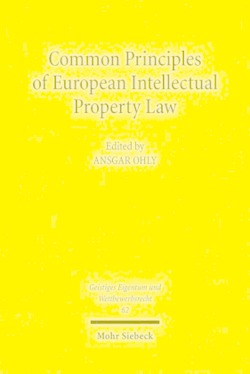 Common Principles of European Intellectual Property Law