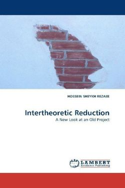 Intertheoretic Reduction - SHEYKH REZAEE, HOSSEIN