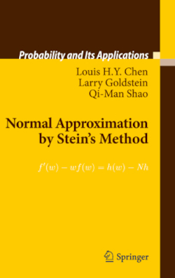 Normal Approximation by Stein's Method - Goldstein, Larry / Chen, Louis H. Y. / Shao, Qi-Man