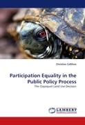 Participation Equality in the Public Policy Process - Callihoo, Christine