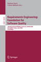 Requirements Engineering: Foundation for Software Quality - Barbara Paech; Colette Rolland