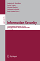Information Security - Sokratis K. Katsikas; Michael Backes; Stefanos Gritzalis; Bart Preneel