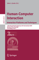 Human-Computer Interaction. Interaction Platforms and Techniques - Julie A. Jacko