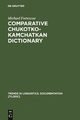 Comparative Chukotko-Kamchatkan Dictionary - Michael Fortescue