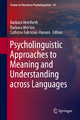 Psycholinguistic Approaches to Meaning and Understanding across Languages - Barbara Hemforth; Barbara Mertins; Cathrine Fabricius-Hansen