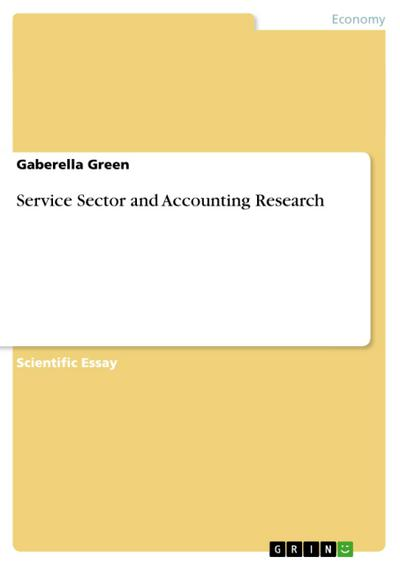 Service Sector and Accounting Research - Gaberella Green
