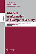 Advances in Information and Computer Security - Atsuko Miyaji