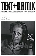 Hannah Arendt - Heinz Ludwig Arnold