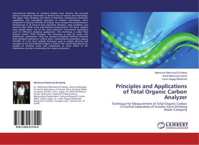 Principles and Applications of Total Organic Carbon Analyzer - Mahmoud Mahmoud El-Haloty
